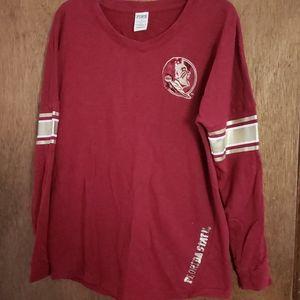Pink FSU Long Sleeve Fleece